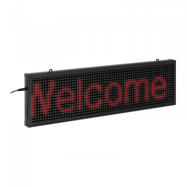 Reklama LED - 64 x 16 czerwone diody LED - 67 x 19 cm - iOS/Android