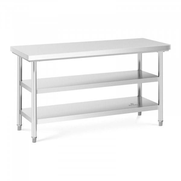 Stół roboczy- 3 poziomy - 150 x 60 cm - 600 kg - stal nierdzewna