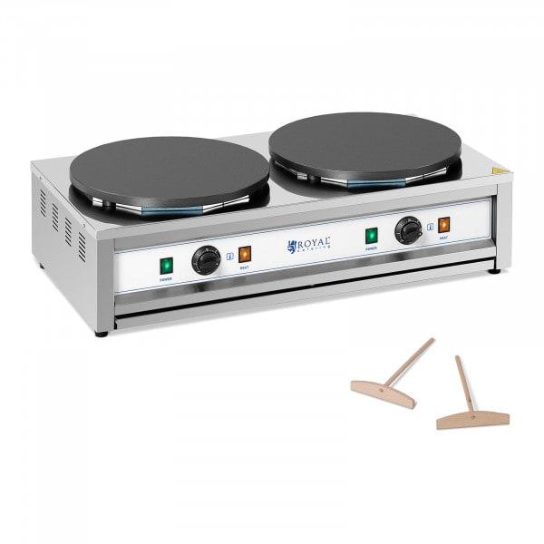 Naleśnikarka - 2 płyty grzewcze - 2 x 400 mm - 2 x 3000 W