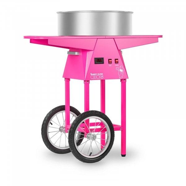 Maszyna do waty cukrowej - 52 cm - LED - wózek