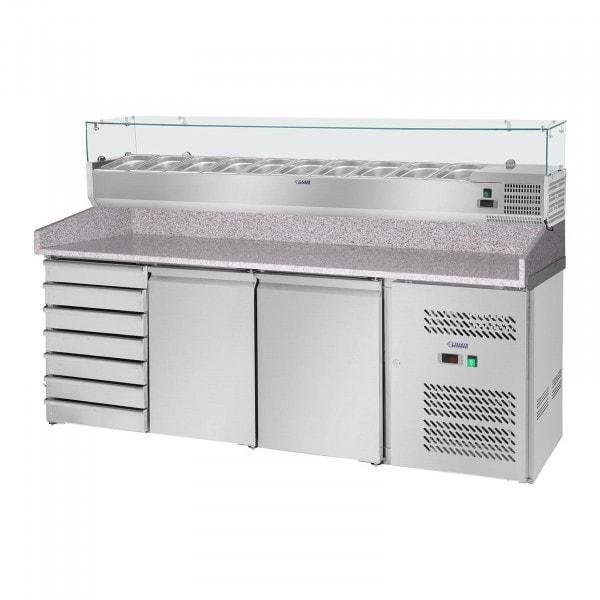 Stół chłodniczy - 203 x 80 cm - nadstawa chłodnicza