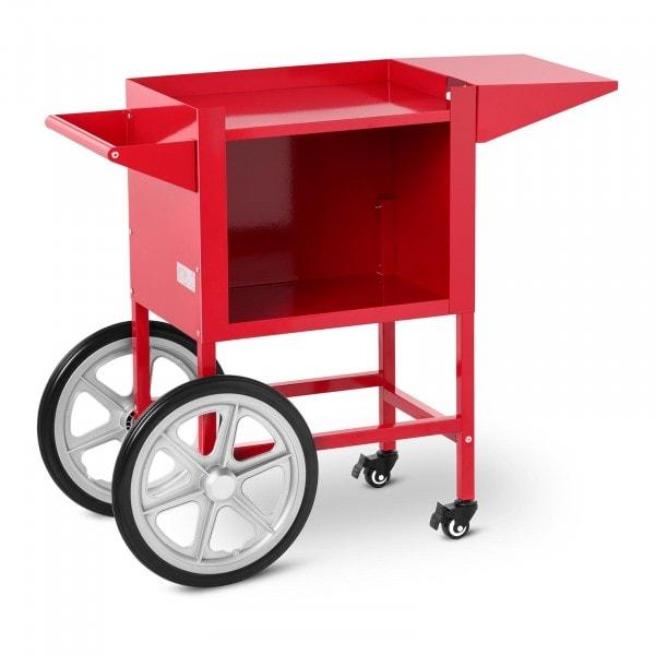 Wózek do popcornu - czerwony - 51 x 37 cm