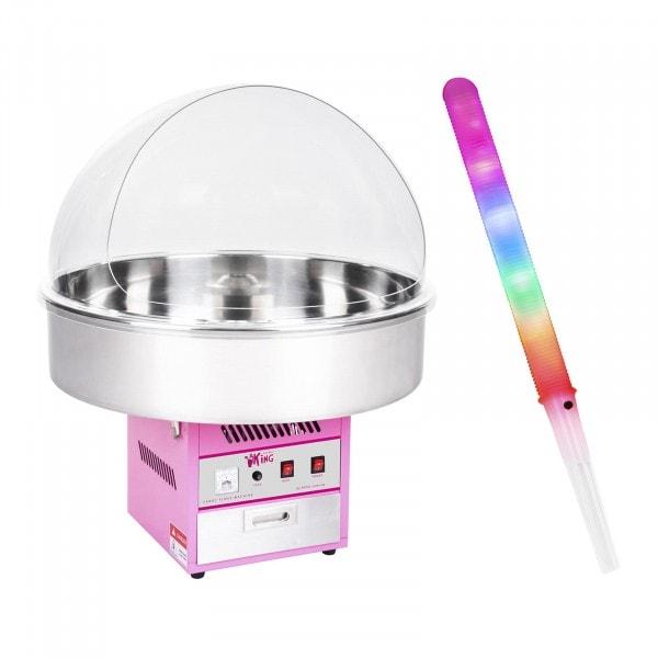 Zestaw Maszyna do waty cukrowej - 72 cm + Świecące pałeczki - LED - 50 szt.