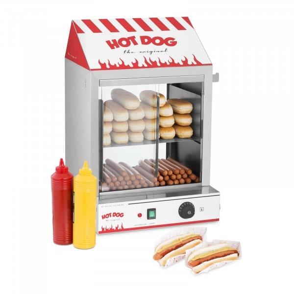 Podgrzewacz do hot dogów - 200 parówek / 50 bułek