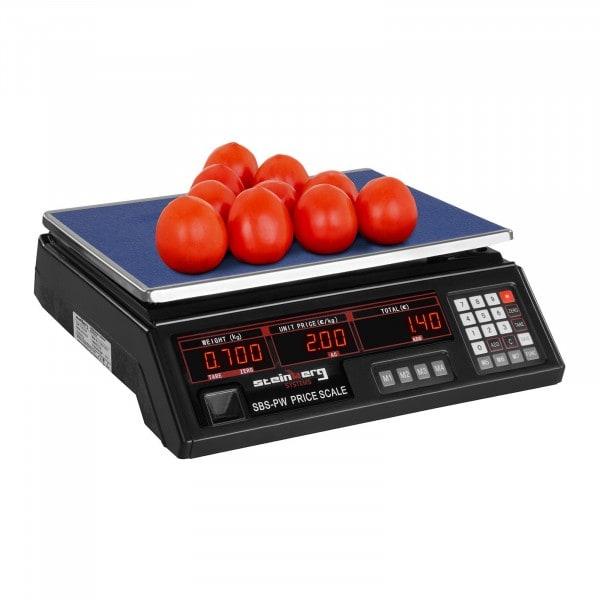 Waga kontrolna - 30 kg - 2 g - czarna