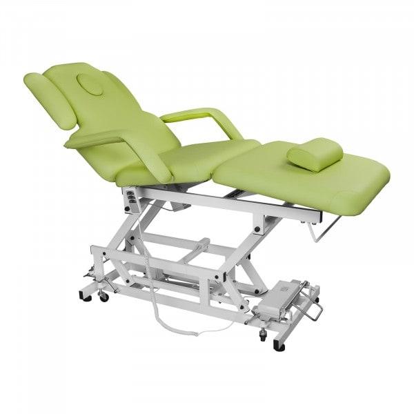 Jasnozielony stół do masażu Delirious - elektryczny