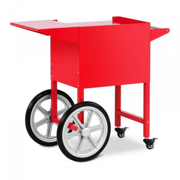 Wózek do popcornu - 51 x 37 cm - czerwony