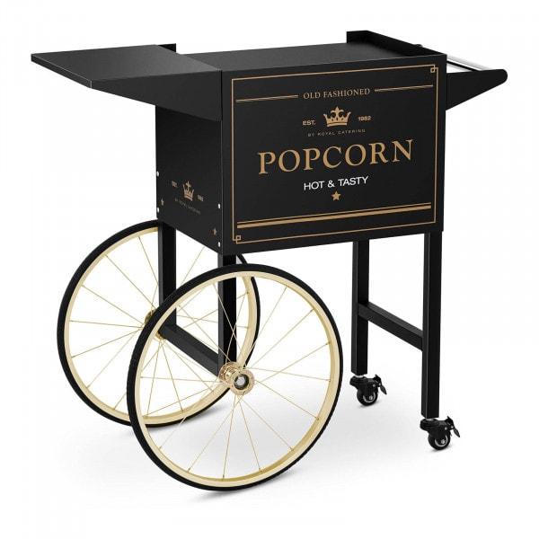 Wózek do popcornu - 51 x 37 cm - czarno-złoty