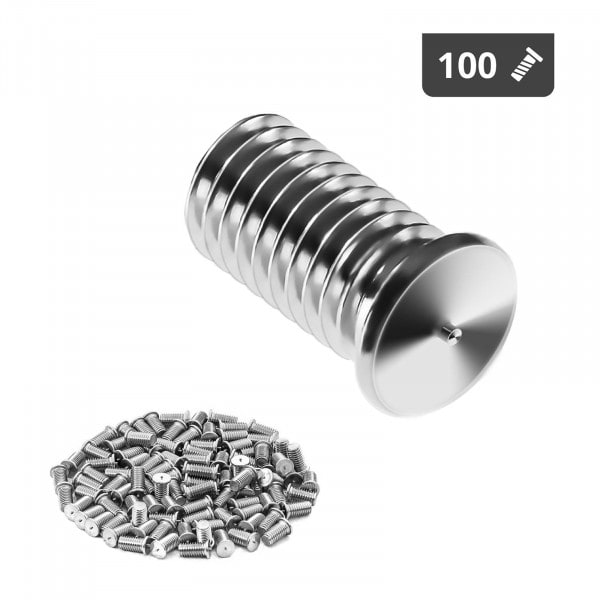 Kołki do zgrzewania - M8 - 16 mm - 100 sztuk