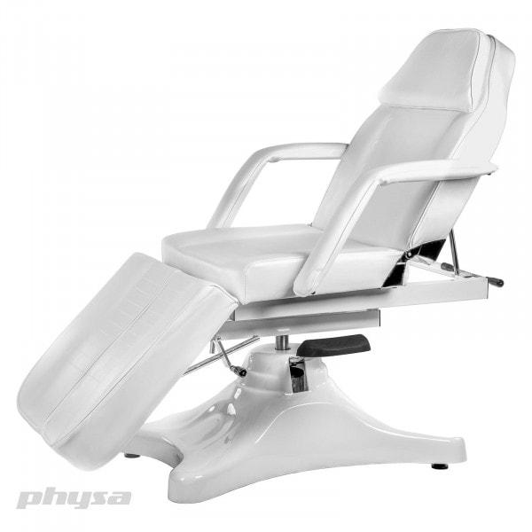 Biały fotel do pedicure Artus - hydrauliczny