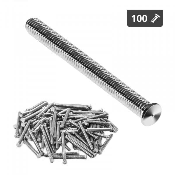 Kołki do zgrzewania - M4 - 40 mm - 100 sztuk