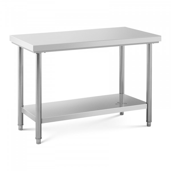 Stół roboczy - 120 x 60 cm - 110 kg - stal nierdzewna