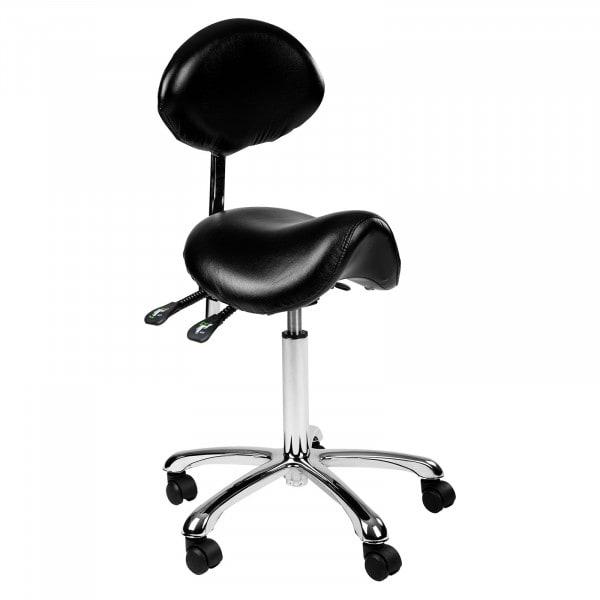 Krzesło siodłowe Comfort z oparciem - czarne