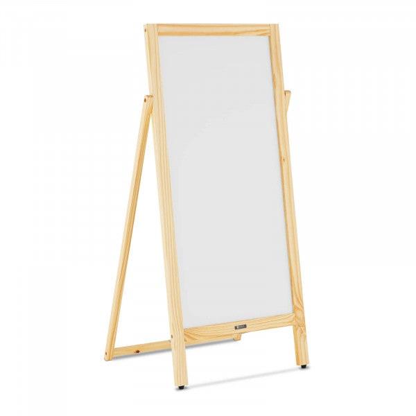 Potykacz reklamowy - 1 tablica, 45 x 90 cm - magnetyczna i z możliwością zapisu - biała