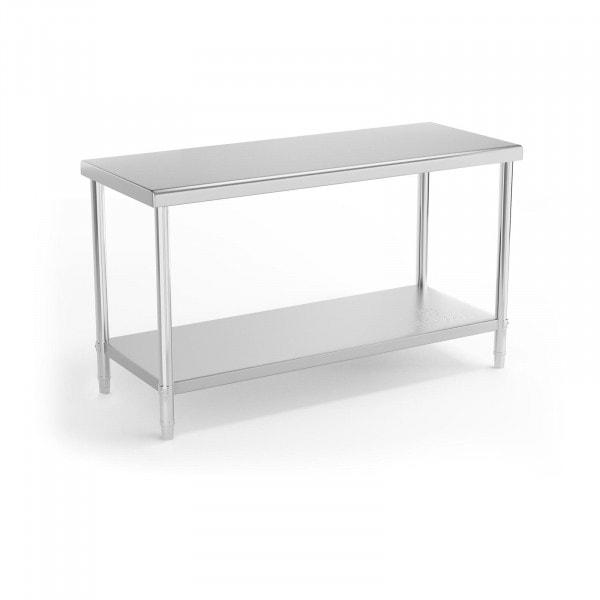 Stół roboczy - 150 x 60 cm - 230 kg - stal nierdzewna