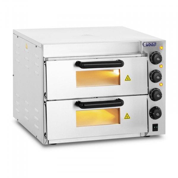 Piec do pizzy - 3000 W - 2 komory - Ø 40 cm