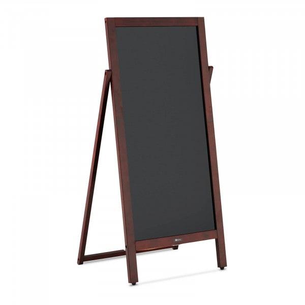 Potykacz reklamowy - 1 tablica, 45 x 83 cm - magnetyczna i z możliwością zapisu - czarna