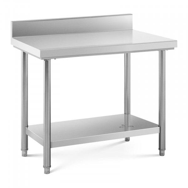 Stół roboczy - stal nierdzewna - 100 x 60 cm - 114 kg - rant