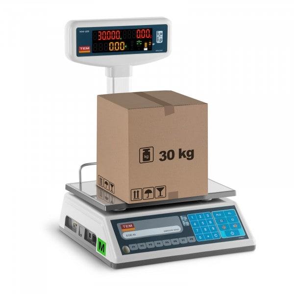 Waga sklepowa - 30 kg / 10 g - legalizacja