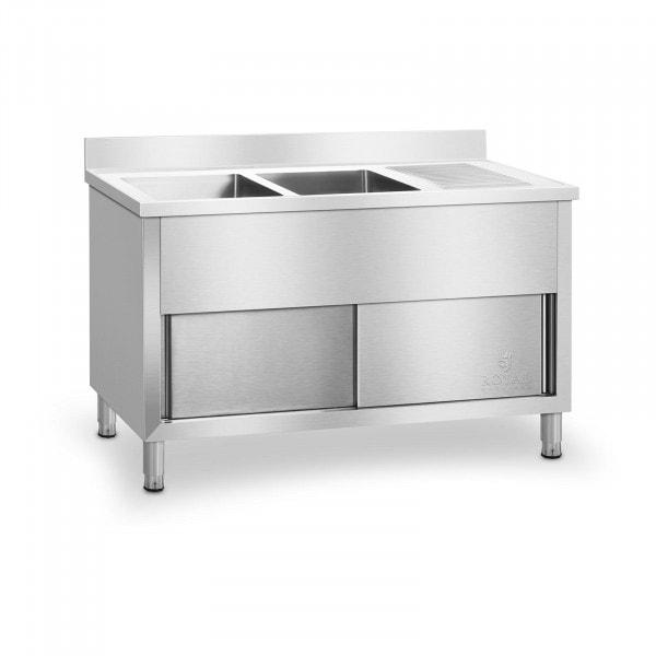 Stół ze zlewem - 2 komory - szafka