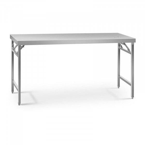 Składany stół roboczy - 180 x 60 cm - stal nierdzewna