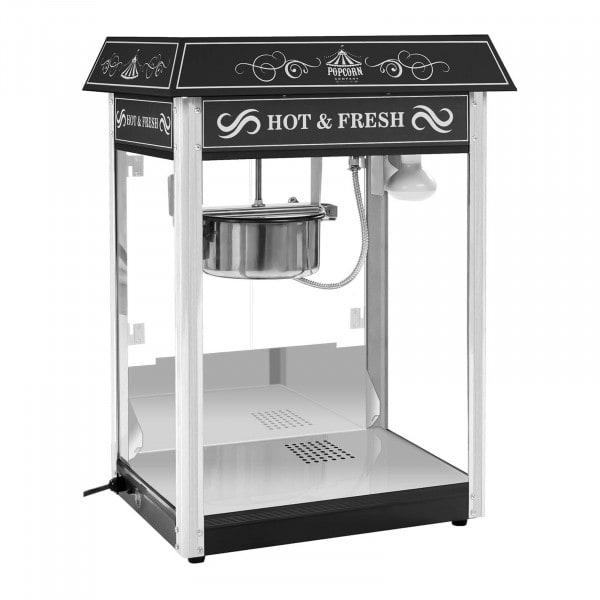Maszyna do popcornu - czarna - amerykański design