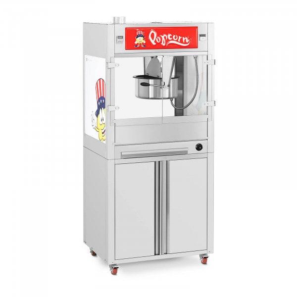 Maszyna do popcornu - z szafką dolną i kółkami - Royal Catering - duża