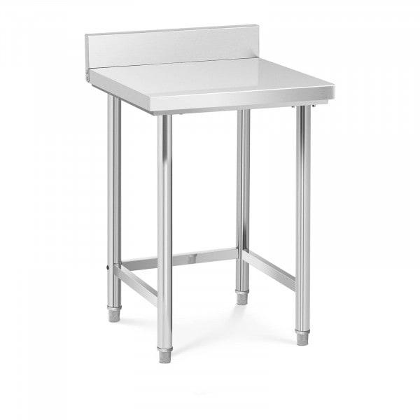 Stół roboczy - 64 x 64 cm - 200 kg - stal nierdzewna - rant