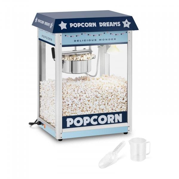 Maszyna do popcornu - 1600 W - niebieska