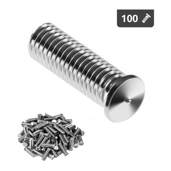 Kołki do zgrzewania - M8 - 25 mm - 100 sztuk