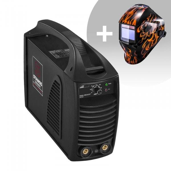 Zestaw spawarka MMA - 250 A - 230 V - IGBT PLUS maska spawalnicza - Firestarter 500 - Advanced