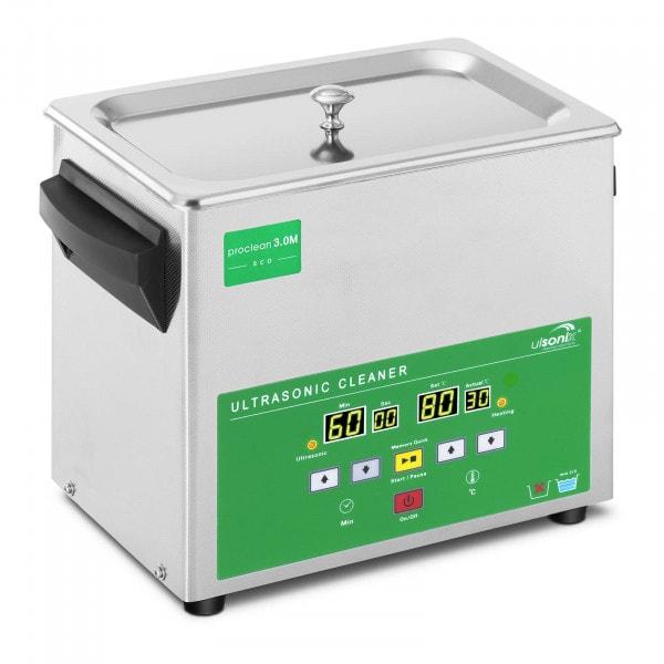 Myjka ultradźwiękowa - 3 litry - 80 W - Memory Quick Eco