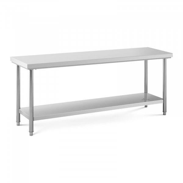 Stół roboczy - 200 x 60 cm - 195 kg - stal nierdzewna