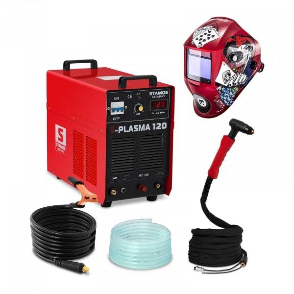 Przecinarka plazmowa - 120 A - 400 V - łuk pilotujący + Maska spawalnicza - Pokerface - Professional