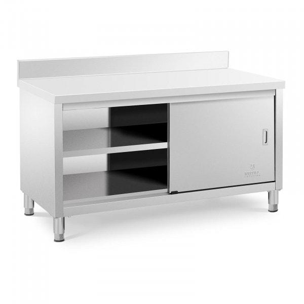 Stół roboczy z szafką - 150 x 70 cm - 600 kg - rant