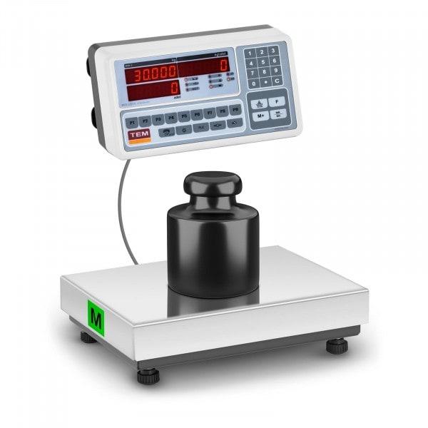 Waga sklepowa - 30 kg / 10 g - LED - legalizacja