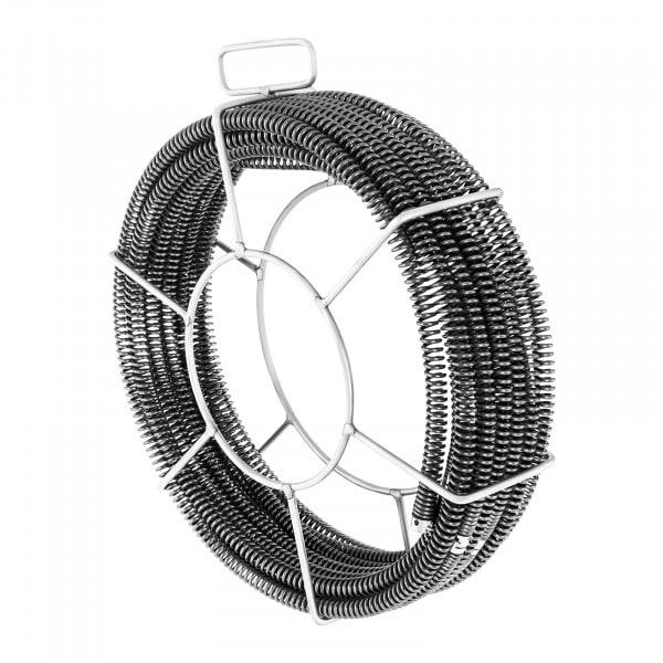 Spirala do rur - zestaw - 5 x 2,3 m / Ø 16 mm + 1 x 2,4 m / Ø 15 mm