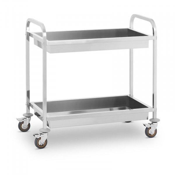 Wózek kelnerski - 2 półki - 320 kg - głęboki