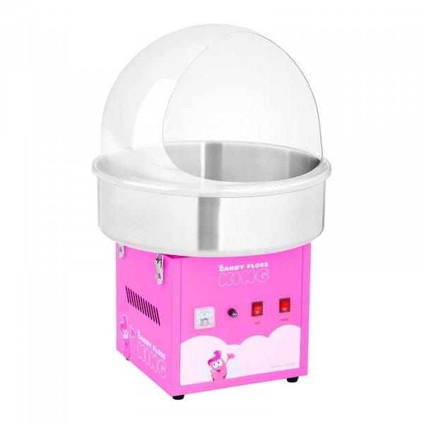 Zestaw Maszyna do waty cukrowej - 52 cm - różowa + Pokrywa ochronna