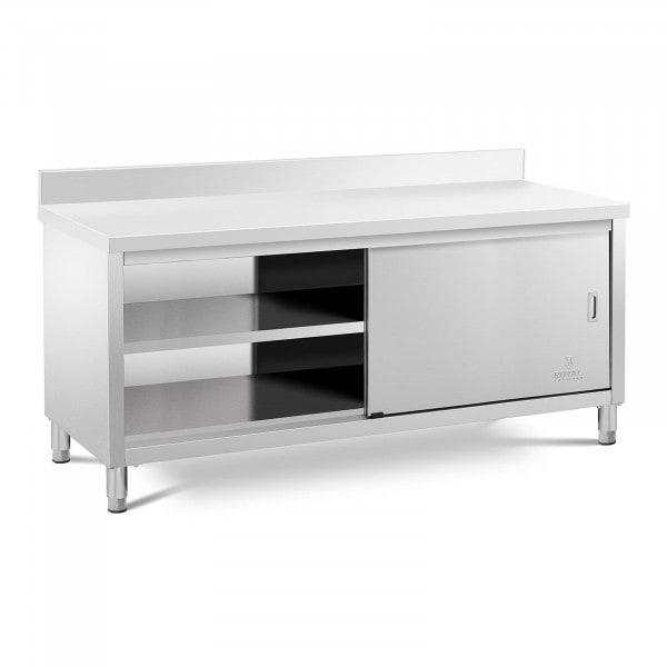 Stół roboczy z szafką - rant - 200 x 70 cm - 600 kg