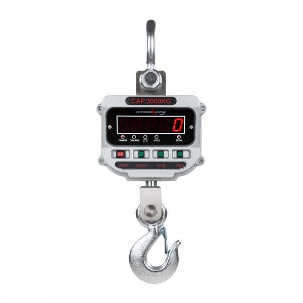 Gesamtansicht von Kranwaage - 3 t / 0,5 kg - LED
