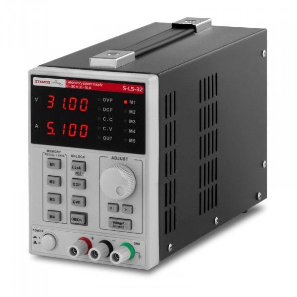 Zasilacz laboratoryjny - 0-30 V - 0-10 A DC - funkcja pamięci - 500 W