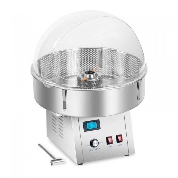 Zestaw Maszyna do waty cukrowej - 62 cm + Pokrywa + Stabilizator