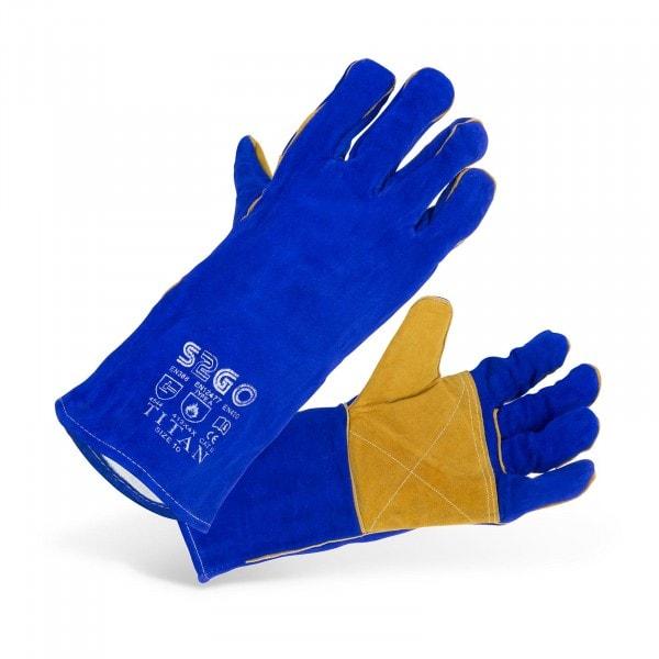 Rękawice spawalnicze - niebieskie