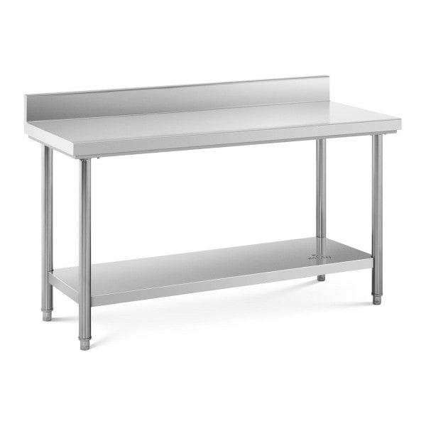 Stół roboczy - stal nierdzewna - 150 x 60 cm - 159 kg - rant